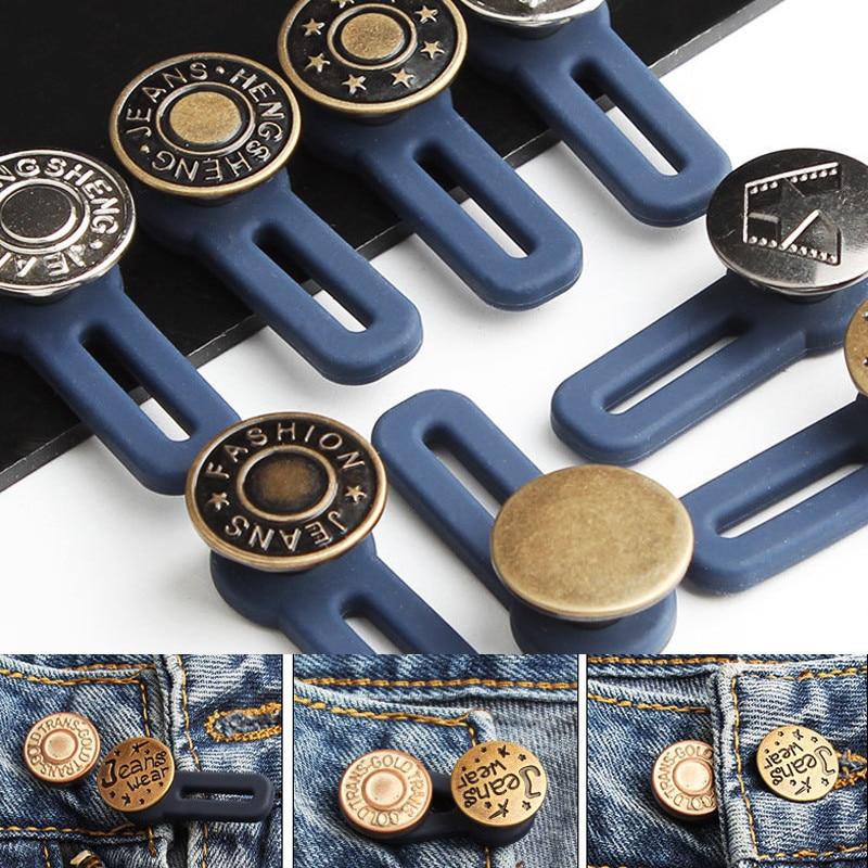5 шт./компл. регулируемые выдвижные джинсовые пуговицы, металлические удлиненные пряжки, расширитель пояса для брюк, Швейные аксессуары