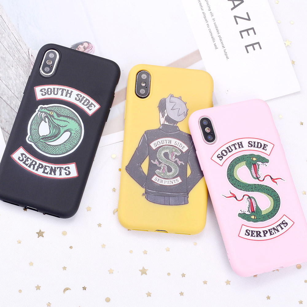 Für 11 Pro 8 8Plus X XR 7 7Plus XS Max 6 6S 5 SE <font><b>TV</b></font> Riverdale jughead <font><b>Jones</b></font> Southside Candy Silikon Telefon Fall Coque Funda image