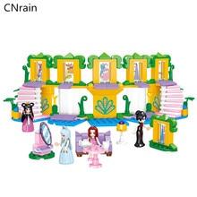 266pcs Fairy Tale Princess Girl Model Building Blocks Queen high tea time friends Figures Doll Brick Kids Friend Compatible Toy все цены