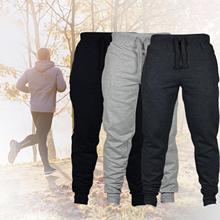 Men's high quality stretch c sweatpants jogging Men Autumn Winter Solid Color Drawstring Pocket Ankle Tied Pants Sports Trousers