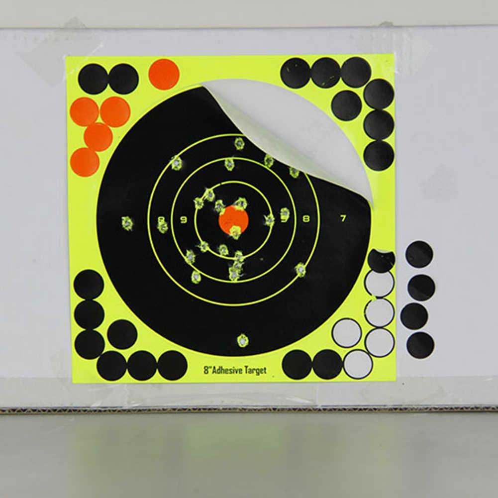 10pcs דבק תגובתיות לירות יעד המטרה האנט אימון יעד מדבקה עבור M4 AK47 אקדח רובה אקדח קלסרים ציד אבזרים