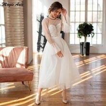Волшебная ость Новый Пляжные свадебные платья одежда с длинным