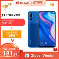 """Originale Huawei Y9 Prime 2019 Smartphone Ai Triple Posteriore Telecamere Globale Versione Del Cellulare 4G 128G Auto Pop- up Anteriore Della Macchina Fotografica 6.59"""""""