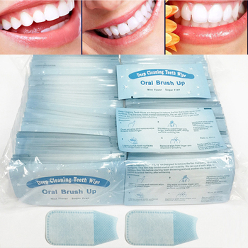 100pcs/200pcs Deep Cleaning Teeth Wipes Teeth Whitening Aid Dental Brush Up Finger Wipe Tooth Cleaning Oral Hygiene Care Tool