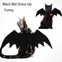 Halloween Cat Bat Wings Collar Harness Decor Dog Cosplay Clothes Funny Wing Accessory Christmas Gifts