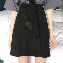 Women Fashion Skirt High Waist Polyester  Female Casual Party Black Bodycon Sexy Thin A