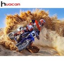 Huacan 5d Diamant Schilderij Nieuwkomers Motorcycle Diamond Art Volledige Boor Mozaïek Racing Auto Landschap Home Decor Handgemaakte Cadeau