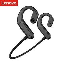 Lenovo X3 tytanu przewodnictwa kostnego bezprzewodowe słuchawki BT 5.0 otwarte ucho sportowe z mikrofonem IPX5 Sweatproof dla jazda na rowerze