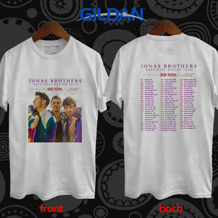 FREE SHIPPING Jonas Brothers Happiness Begins Tour Concert 2019 Tees S-3XL