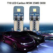 T10 LED Canbus W5W 194 168 3030 2SMD Error Free Clearance Lights Car Side Wedge Light Lamp Bulb Interior Dome Lights Signal Lamp 2pcs white t10 wedge light 194 168 6w cob led car canbus no error side signal lamp bulb auto reading number plate lights