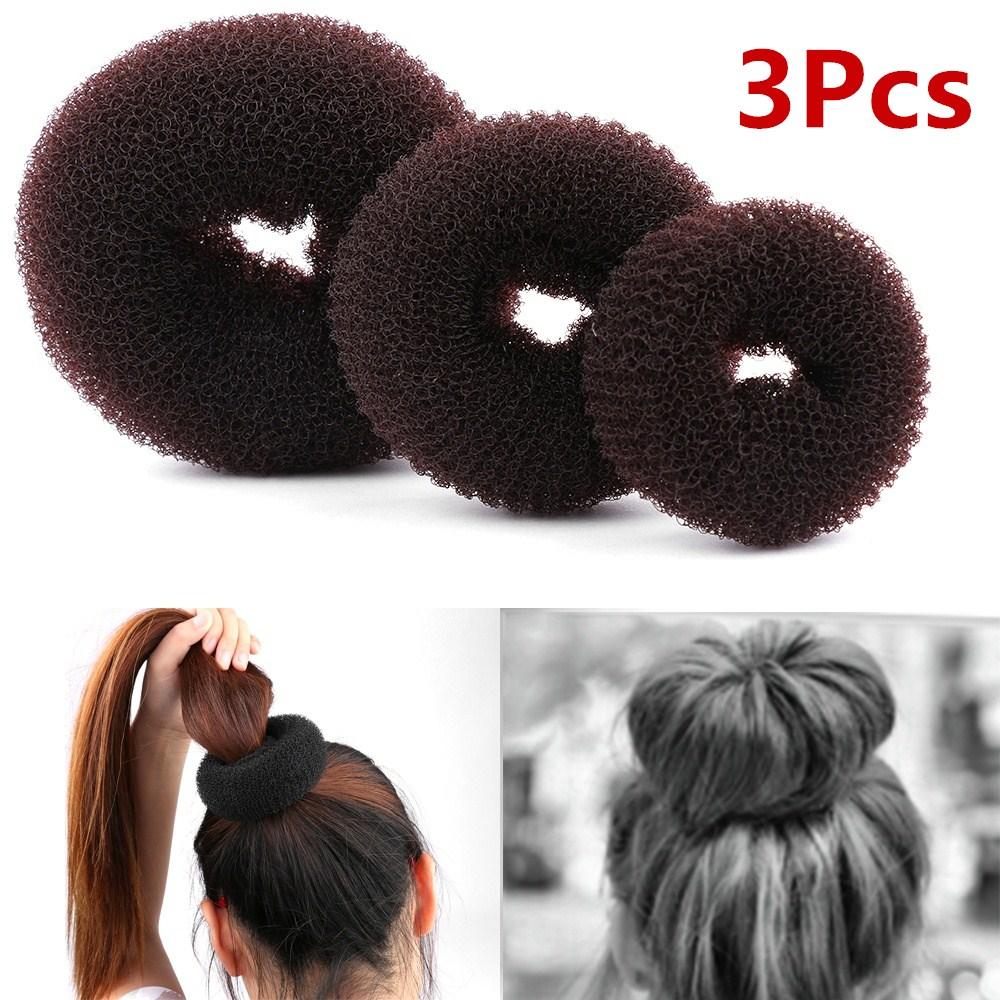 3 шт. Размер/М/Л, Женское кольцо для волос «пончик», аксессуары для укладки волос