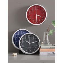 8 Inch Quartz Wall Clock Plastic Antique Designer Watches Home Decor Living Room Bedroom Silent Wall Clocks Modern Art Design(China)