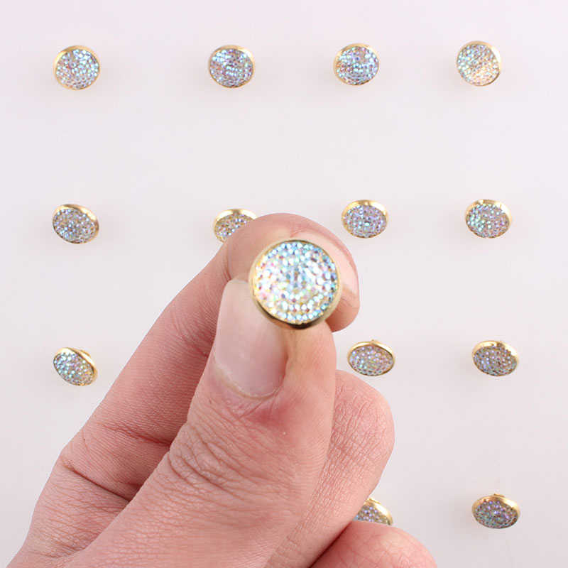 Giyim için Metal düğmeler Scrapbooking DIY 1 delik Mini dikiş malzemeleri düğmesi dekoratif el sanatları aksesuarları 50 adet E