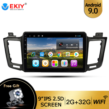 EKIY 9'' IPS Car Radio For Toyota RAV4 4 XA40 5 XA50 2012 2018 Car Multimedia Video Player Navigation GPS Android 9.0 2 Din Dvd image