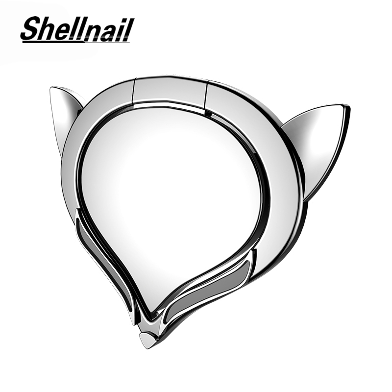 SHELLNAIL Cute Fox Finger Ring Phone Holder For iPhone Samsung HUAWEI 360 Degree Circle Holder for