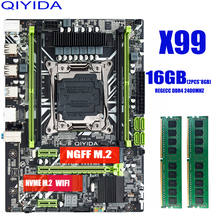 Scheda madre X99 con 2*8G = 16GB DDR4 2400Mhz REGECC memory combo kit set NVME USB3.0 MATX Server