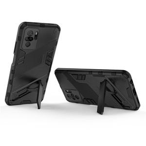 Image 5 - PUNK etui na telefon do Xiaomi Redmi Note 10 etui na Xiaomi Note 10 okładka pancerz PC odporny na wstrząsy silikonowy zderzak ochronny do Note 10