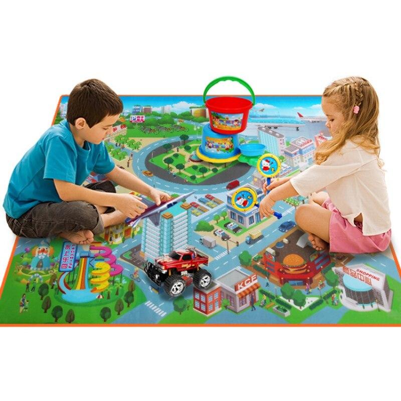 ベビープレイマット 0.5 センチメートル厚い防水peクロールマットソフト折りたたみカーペット交通ルートキッズアクティビティブックのゲーム敷物毛布のおもちゃ