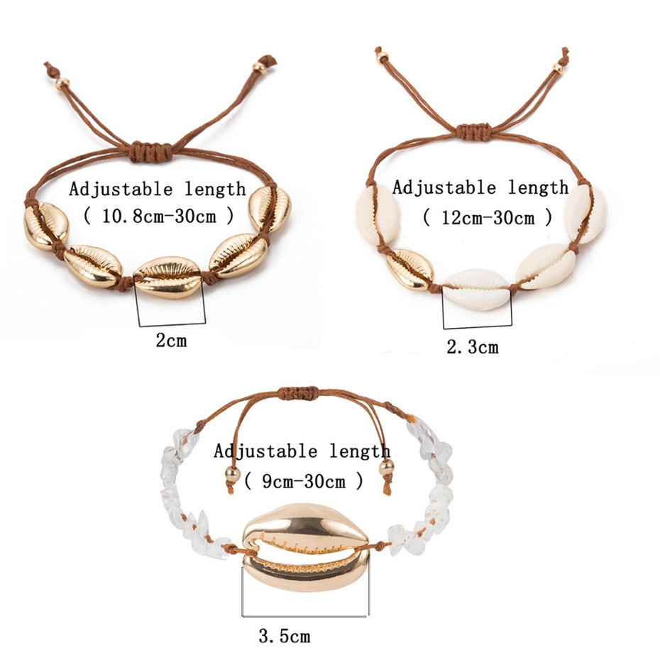 IngeSight-Z-3Pcs-Set-Bohemian-Big-Alloy-Shell-Bracelet-Charm-Natural-Stone-Adjustable-Bracelets-Bangle-for (2)