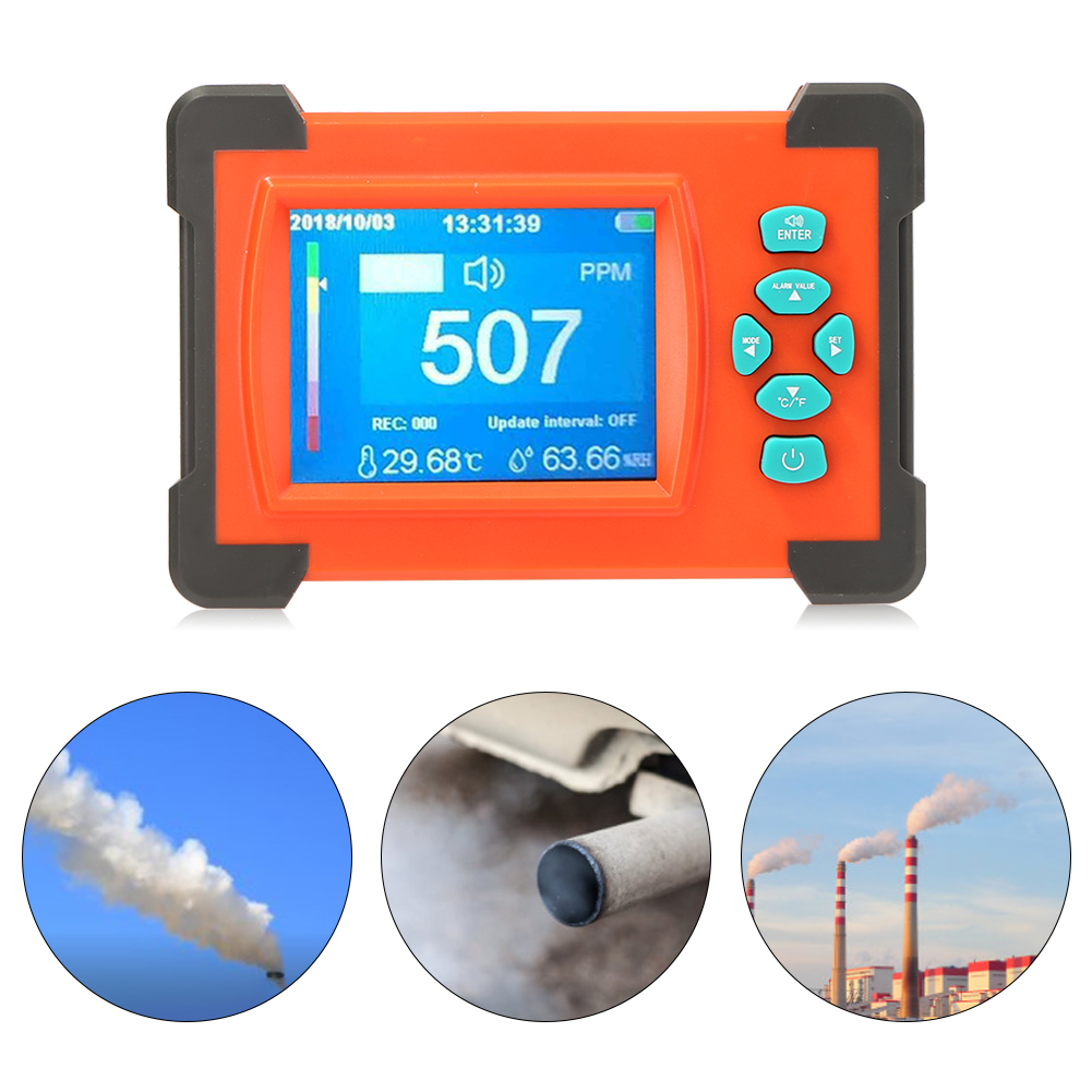 Co2 Analyzer Desktop Carbon Dioxide Analyzer Monitor Lcd/pc Gas Detector Dioxide Air Temperature Humidity Logger Meter