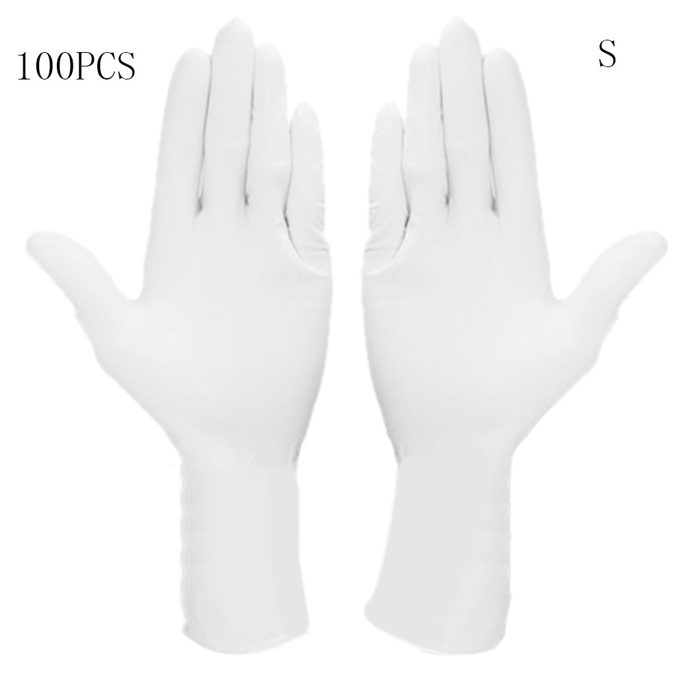 Disposable Nitrile Gloves 100 Food Protective Gloves White