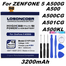 LOSONCOER 3200mAh C11P1324 Battery Use for ASUS ZenFone 5 Battery A500G Z5 A500 A500CG A501CG A500KL 0B200-00850000 T00F T00J(China)
