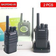 2 шт. Baofeng BF-V8 Мини Walkie Talkie набор портативный USB зарядка ручной двухсторонний радиоприемник Охота Пешие прогулки Baofeng walkie-talkie