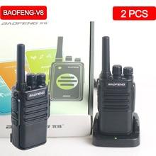 2Pcs Baofeng BF-V8 Mini Walkie Talkie set portable USB Charge Handheld Two Way Ham Radio hunting hiking Baofeng walkie-talkie