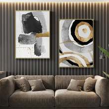 Modern Canvas Painting Golden Decoration Ink Black White Poster Print Living Room Bedroom Abstract Picture Wall Art Home Decor modern black swan and white swan canvas painting print poster picture home bedroom wall art painting decoration can be customize