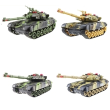 Rc-Tank Simulation Usb-Charger Remote-Control Sound-Mode Army Mini with Wireless-Cable
