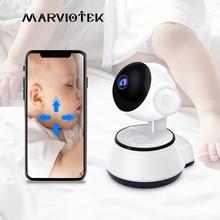 בייבי מוניטור אלחוטי WiFi IP מצלמה 720P וידאו נני מצלמת תינוק מצלמה עם צג אבטחת בית תינוק טלפון מצלמה ראיית לילה