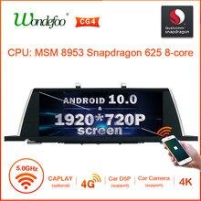 Gps dos multimédios do carro de snapdrago android 10 1920*720 para bmw série 5 gt f07 2009-2016 navegação de rádio do carro 4g nenhum leitor de dvd 2 din