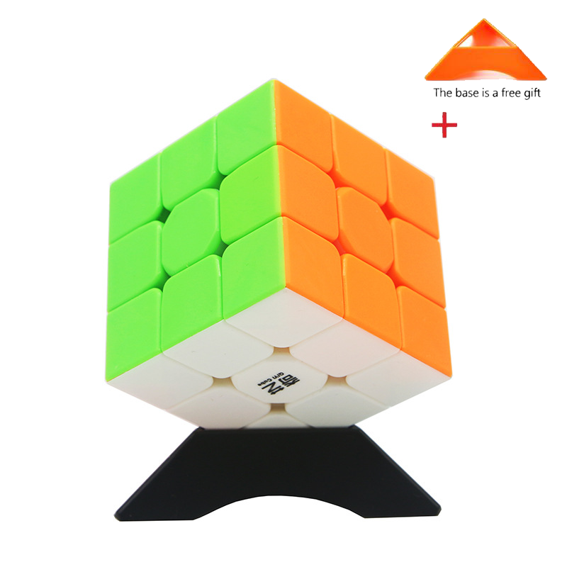 Qiyi Magic Cube 3x3x3 Colorful Speed Cube Stickerless Puzzle Toys For Children Adults Professional High Quality Gift Base