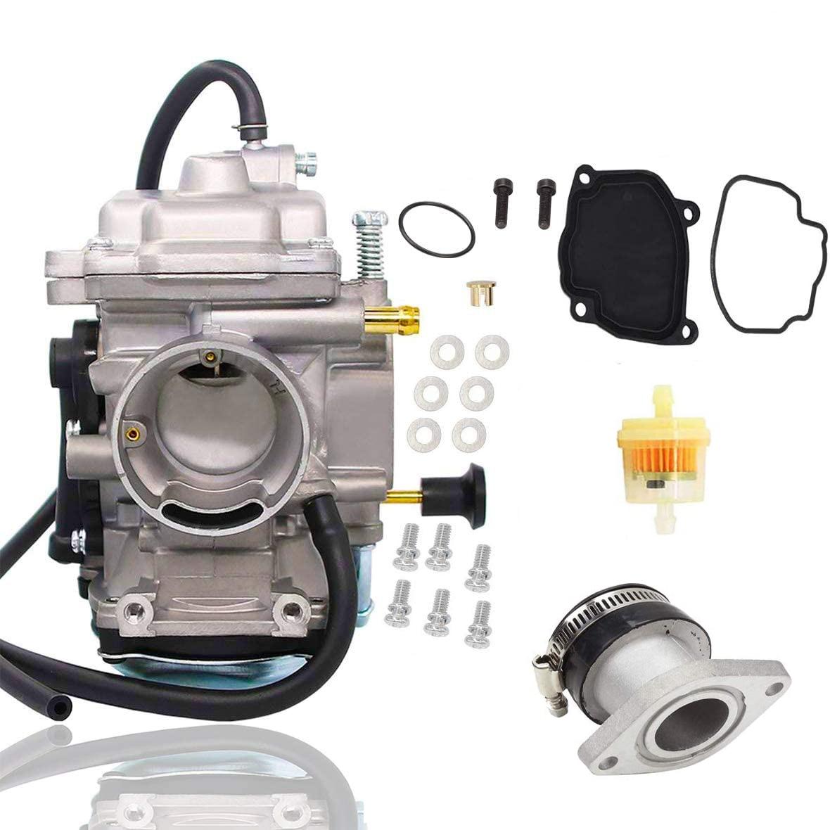 Carb Intake Manifold Fuel Filter For Yamaha Bear Tracker YFM 250 1999-2004 ATV