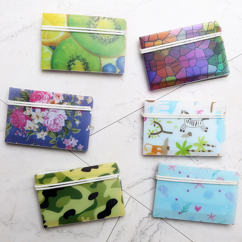 5Pcs Cute Animals & Flowers Portable PVC Mask Clips Disposable Face Mask Storage Case Container Foldable Recycling Mask Holder