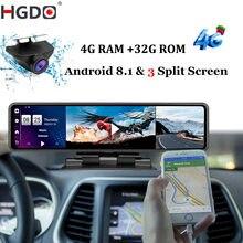 HGDO 12'' 4G Auto DVR Dashboard Kamera Android 8,1 4G + 32GADAS Rückspiegel Video Recorder 1080P WiFi GPS Dash Cam Konsole