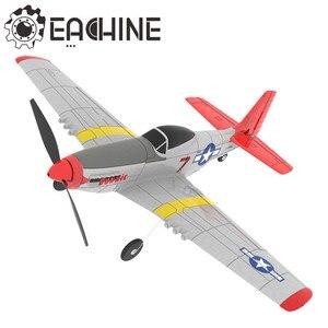 Eachine mini P-51D epp 400mm wingspan 2.4g 6-axis controle remoto rc instrutor avião fixo asa rtf um retorno chave para iniciante