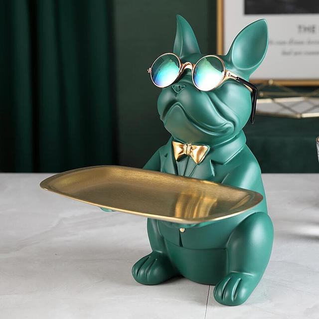 Cool Bulldog,Statue,Table Decoration,Fashion Sculpture,Home Room Decor,Multifunction,Desk Storage,Figurine Miniature,Coin Bank 3