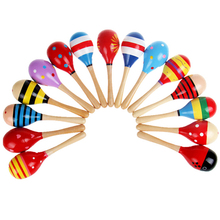 Baby Rattle Toys for Infant Baby Kids Educational Toys Colorful Sand Hammer Musical Instrument for Boys and Girls Single sale cheap Wood 3 years old 11 5*3 5cm 4 53*1 38inch Unisex Baby Wooden Instrument Cheering Stick Random Support