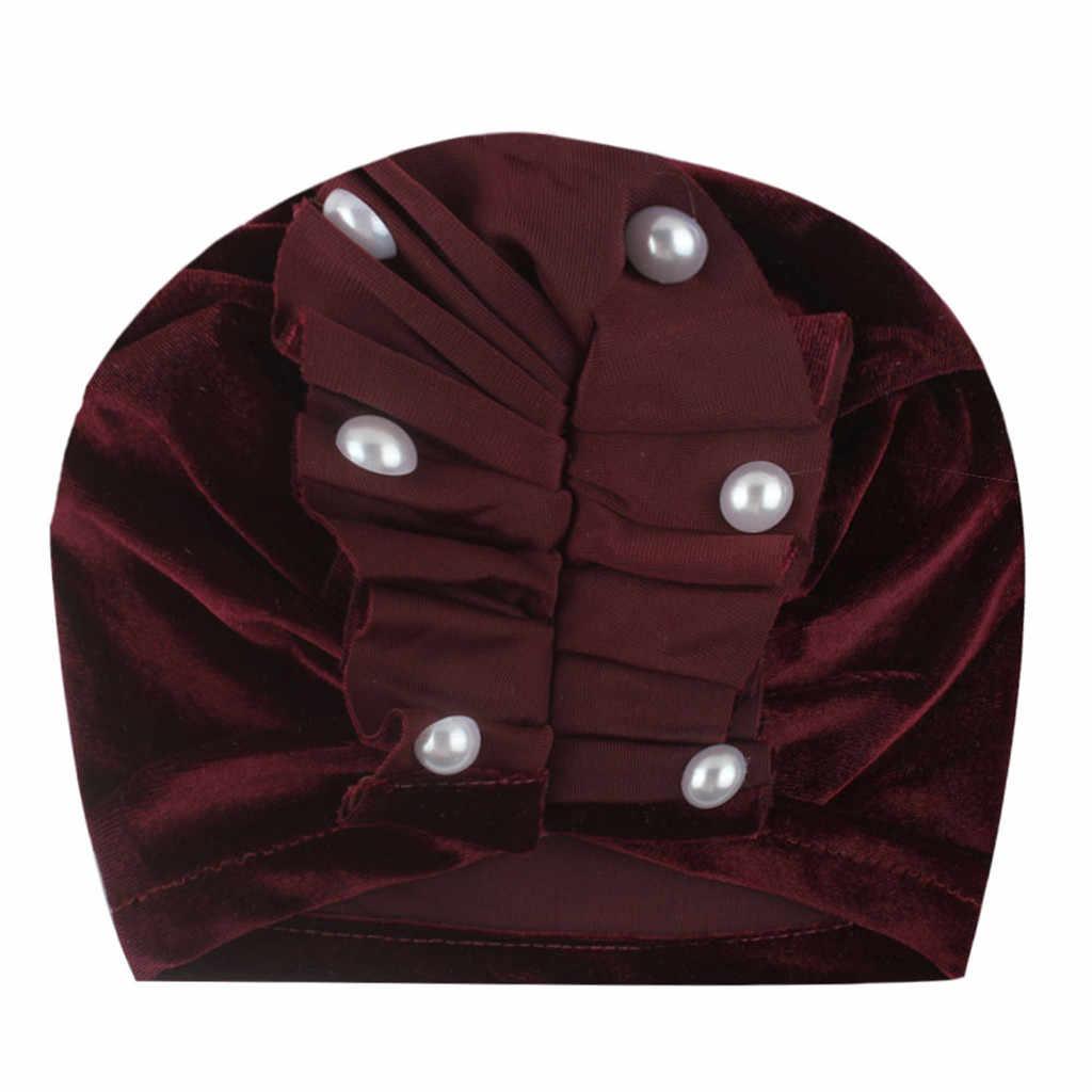 יילוד תינוק בני בנות תינוק Laciness כובע מוצק חרוז כובע פעוט אבזרי תמונה ילדים כובע עבור בנות חם חדש נולד כובעי חורף סתיו