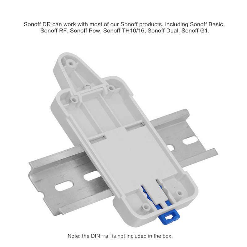 Plateau de Rail Sonoff DR DIN Solution de support de boîtier de Rail monté réglable pour monté sur des Modules d'automatisation de tableau de commande de voie de guidage