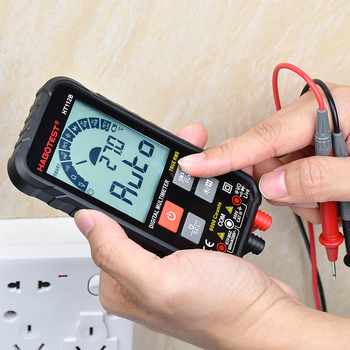 Professional Digital Multimeter Battery Tester Ultra-Portable DC AC Voltage Detector Analogue Meter Capacitance NCV Ohm Hz battery tester at528l handheld battery analyzer portable digital ac resistance meter dc voltage battery tester 1mv~50v testing