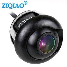 ZIQIAO سيارة الجبهة الخلفية كاميرا لموقف السيارات للرؤية الليلية HD الجانب عرض عكس الكاميرا HSB012
