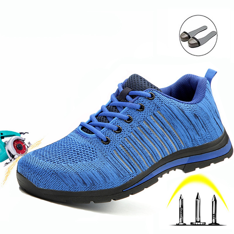 Labor Insurance Shoes Men's Anti-Mite Stab Penetration Gas Deodorant Lightweight Non-Slip Wear-Resistant Work Safety Shoes