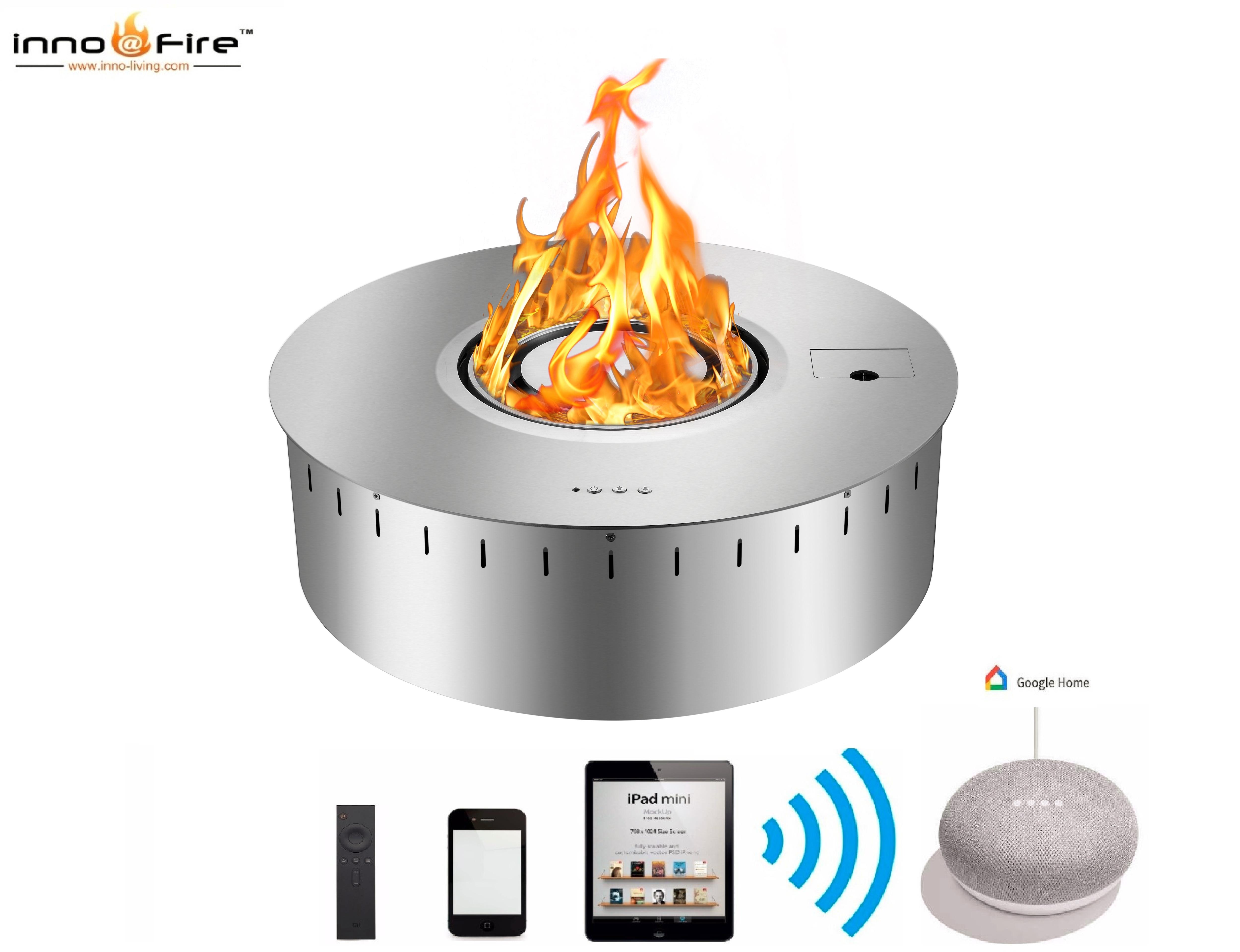 Hot Sale Bio Ethanol Insert Round Fireplace Gel Fuel Burner With Remote Control