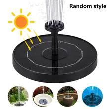 Fuente Solar flotante para estanque, bomba para cascada, Baño de aves, decoración de Patio y jardín, fontaine solaire