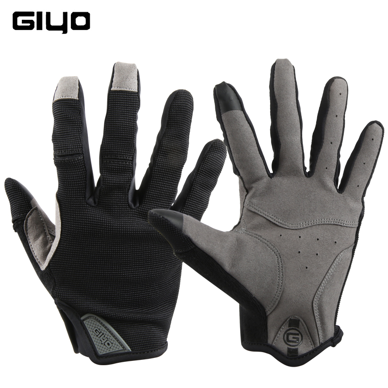 Giyo Cycling Full Finger Gloves Touch Screen Anti-slip Bicycle  Fabric