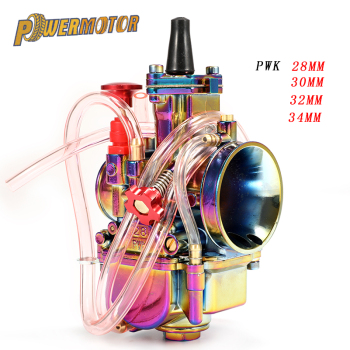 Carburador Universal de motocicleta PWK 28 30 32 34mm Carburador para con Power Jet para Moto de carreras Dirt Bike