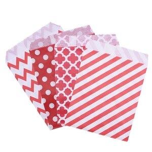 25/50 шт., бумажные пакеты в смешанном стиле для свадебной вечеринки, подарочные пакеты для печенья и конфет, упаковка для еды, товары для украш...