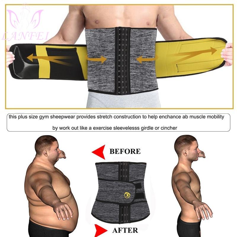 LANFEI Men's Neoprene Thermo Body Shaper Waist Trainer 9